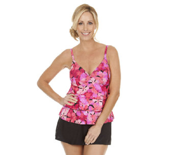 Ocean Dream Signature Fresh Petals Tiered Tankini Swimsuit - A252527