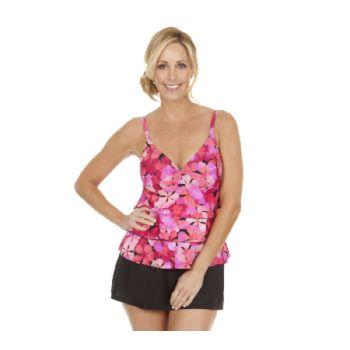 Ocean Dream Signature Fresh Petals Tiered Tankini Swimsuit