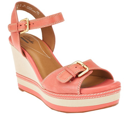 Clarks Leather Wedges - Zia Castle