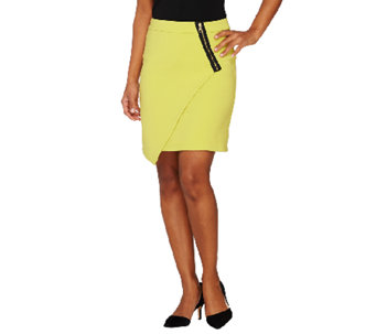 Styled by Joe Zee Envelope Skirt with Zipper Detail - A262727