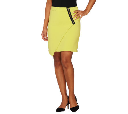 Styled by Joe Zee Envelope Skirt with Zipper Detail