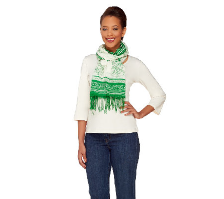 ED On Air Floral Border Scarf by Ellen DeGeneres