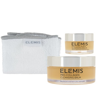 ELEMIS Pro-Collagen Cleansing Balm w/ Travel-Size and Cloth - A265327