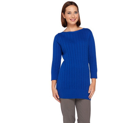 Liz Claiborne New York Essentials Cable Knit Sweater