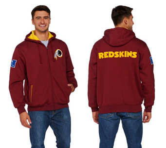 NFL Team Color Sherpa Lined Zip Up Hoodie - A268227
