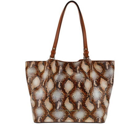 Dooney & Bourke City Python-Embossed Leather Flynn Shoulder Bag