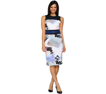 G.I.L.I. Printed Sheath Dress