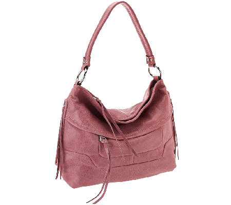 """As Is"" Aimee Kestenberg Vintage Leather Hobo Bag - Camilla"