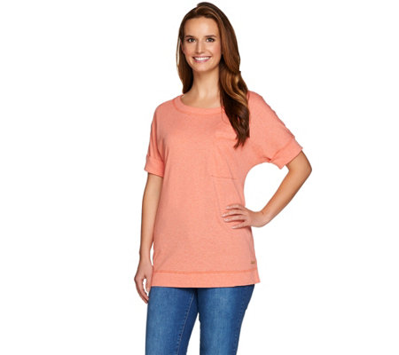 Isaac Mizrahi Live! SOHO Double Cuff Pocket T-shirt