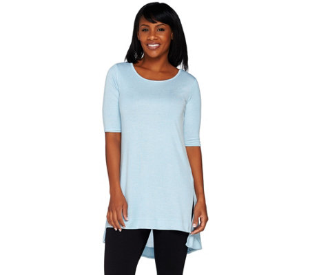 Lisa Rinna Collection Knit Tunic with Side Slits