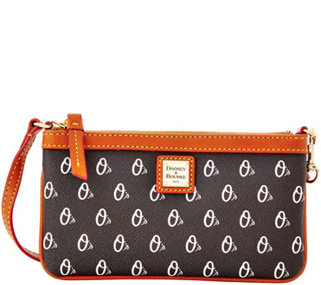 Dooney & Bourke MLB Orioles Large Slim Wristlet