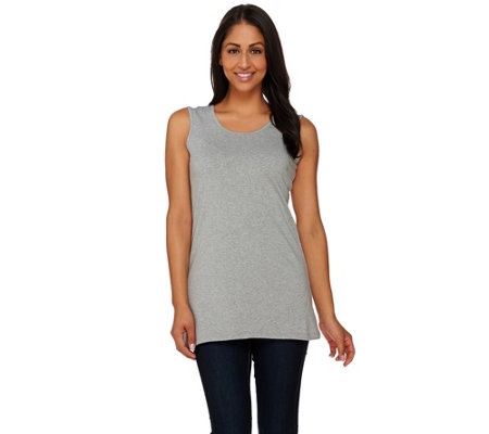 """As Is"" Denim & Co. Essentials Tunic Length Cami"