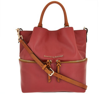 """As Is"" Dooney & Bourke Smooth Leather Dawson Satchel - A283127"