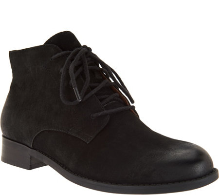 Vionic Orthotic Lace-up Ankle Boots - Mira - Page 1 — QVC.com