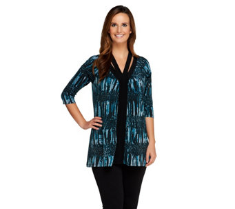 """As Is"" SA by Seth Aaron Printed Knit Tunic with Neckline Detail - A287227"