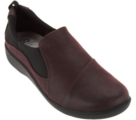 """As Is"" Clarks Cloud Steppers Slip-on Shoes- Sillian Paz"