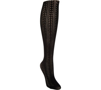 LOGO by Lori Goldstein Pointelle Knit Tights - A288627
