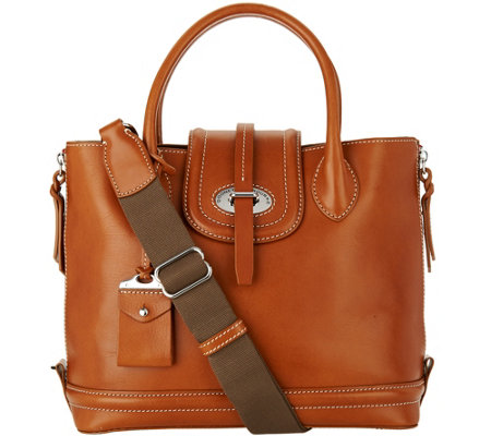 """As Is"" Dooney & Bourke Florentine Toscana Side Zip Satchel"