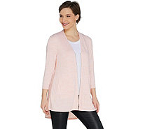 H by Halston Knit Zip Front Cardigan with Side Slits - A301927