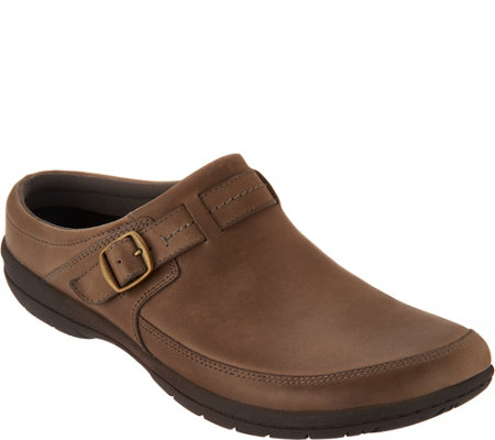 Merrell Leather Buckle Slide Mules - Encore Kassie