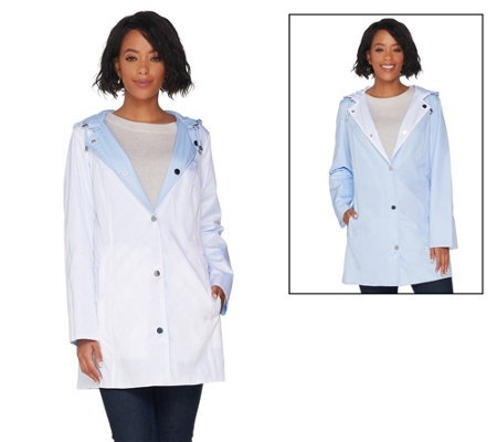Susan Graver Water Resistant Reversible and Packable Jacket