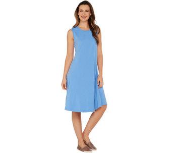 Essentials Sleeveless Knit Dress with Seam Detail - A305527