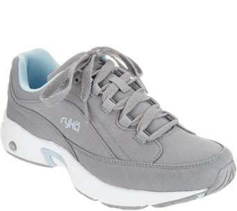 Ryka Canvas_Lace-Up Walking Sneakers - Catalyst - A305627
