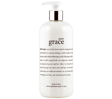 philosophy pure grace body lotion, 16 oz