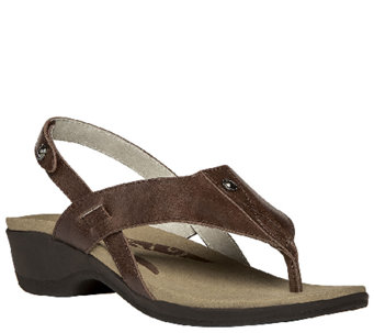 Propet Rejuve Leather Thong Sandals with Backstrap - Mariko - A336827