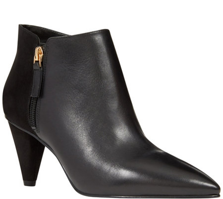 Nine West Leather Booties - Yames