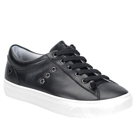 Nurse Mates Leather Lace Up Sneakers - Fenton