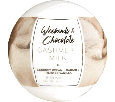 Weekends & Chocolate (2) 8-oz Large Bath Fizzies