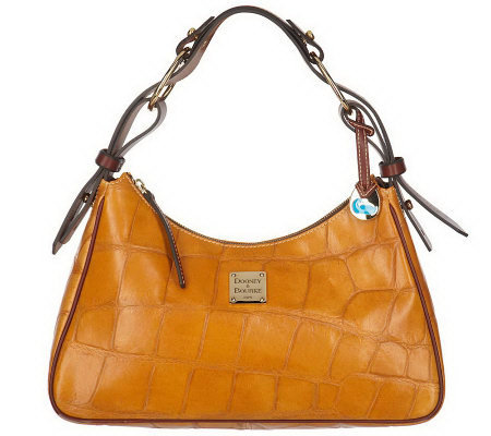 Dooney & Bourke Croco Embossed Leather Large Hobo Bag