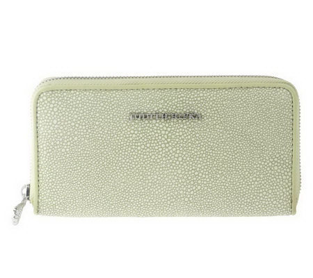 "Judith Ripka ""Lexington"" Stingray EmbossedLeather Zip Wallet"