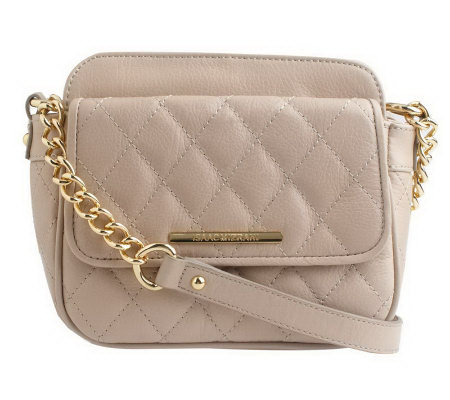 Isaac Mizrahi Live! Quilted Leather Crossbody