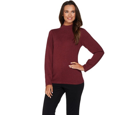 Joan Rivers Long Sleeve Mock Turtleneck Sweater