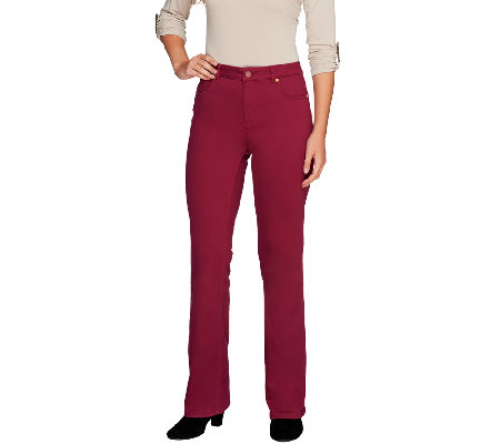 Isaac Mizrahi Live! Regular Icon Grace Boot Cut Jeans
