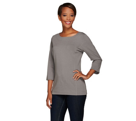 Denim & Co. Essentials Knit Top w/ Princess Seams