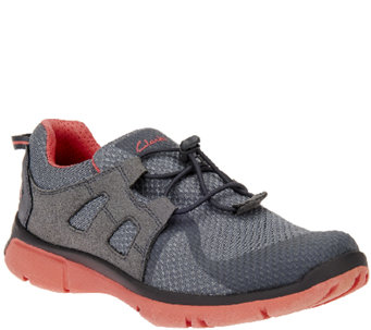 Clarks Outdoor Mesh Athletic Shoes w/ Bungee - Luminate Trace - A261228