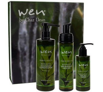 WEN by Chaz Dean Rice Cleanse & Style 3 Piece Gift Set - A271728