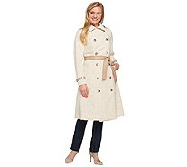 G.I.L.I. Belted Coated Lace Trench Coat - A273628
