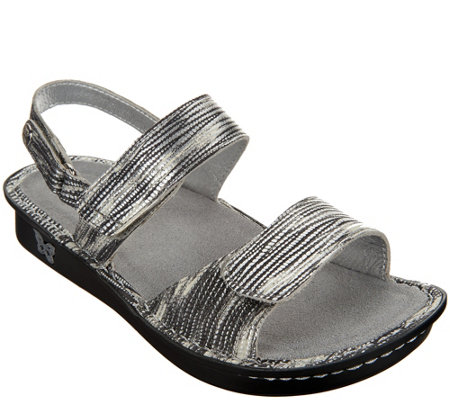Alegria Leather Sandals with Adj. Straps - Verona