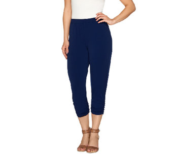 """As Is"" Susan Graver Liquid Knit Comfort Waist Crop Pants - A275128"