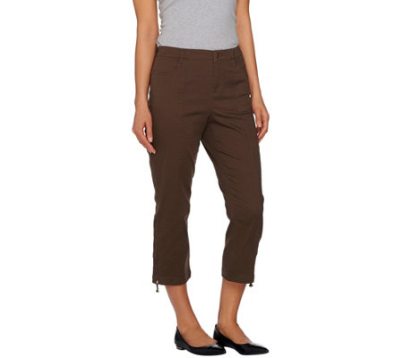 Lisa Rinna Collection Crop Pants with Drawstring Detail