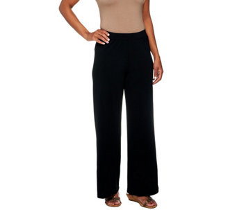 """As Is"" George Simonton Regular Crystal Knit Pull-On Palazzo Pants - A277028"