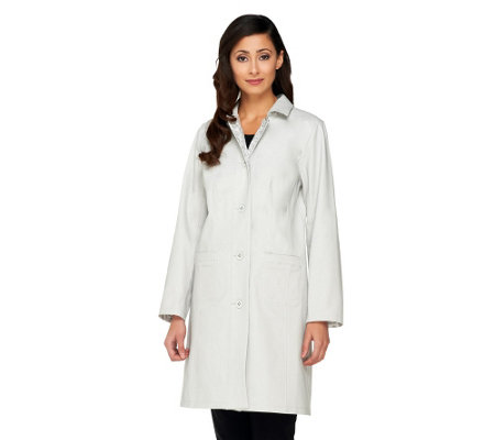 """As Is"" Isaac Mizrahi Live! Reversible Water Repellant Coat"