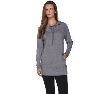Cuddl Duds Comfortwear Lounge Hooded Tunic - A280228