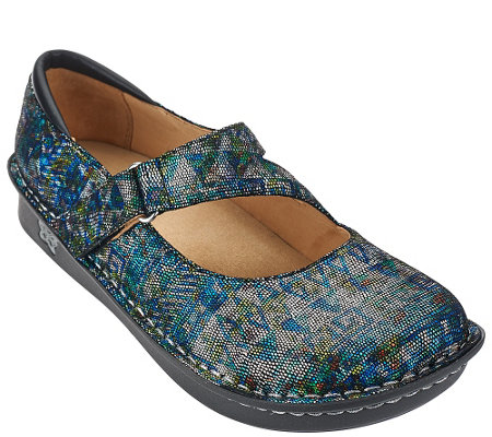 """As Is"" Alegria Leather Mary Janes Medium Width - Jill"