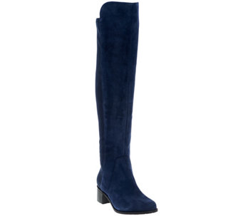 Marc Fisher Leather or Suede Over the Knee Boots - Idle - A281328