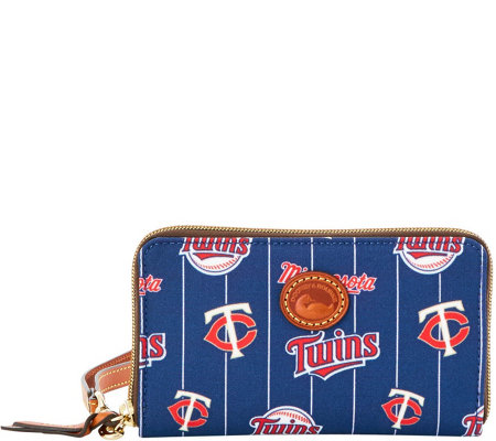 Dooney & Bourke MLB Nylon Twins Zip Around Phone Wristlet